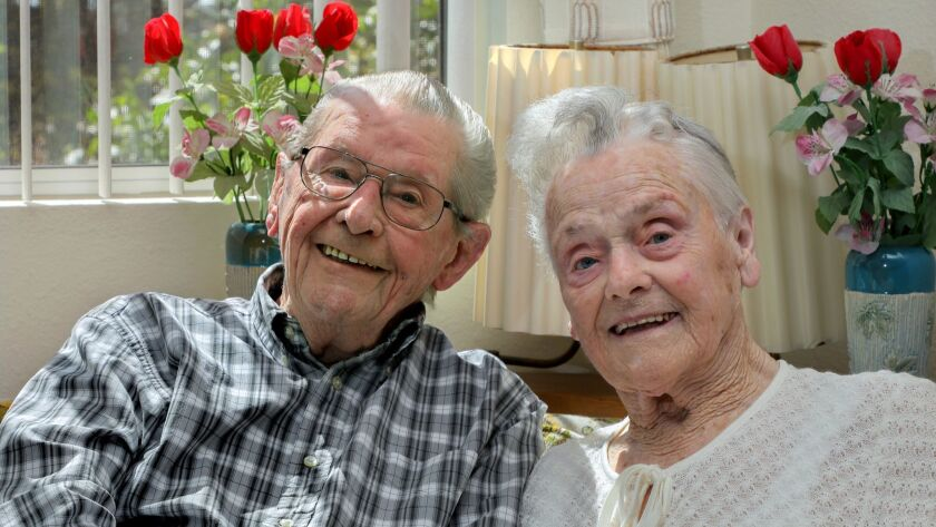 Portrait of Willi and Margarete Kleemeier at their home in the Redwood Terrace retirement community.
