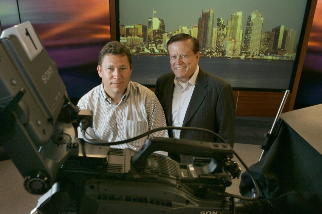 Charles Herring, left, is president of Herring Broadcasting, and his father, Robert S. Herring Sr., is CEO, as shown in this 2006 file photo.