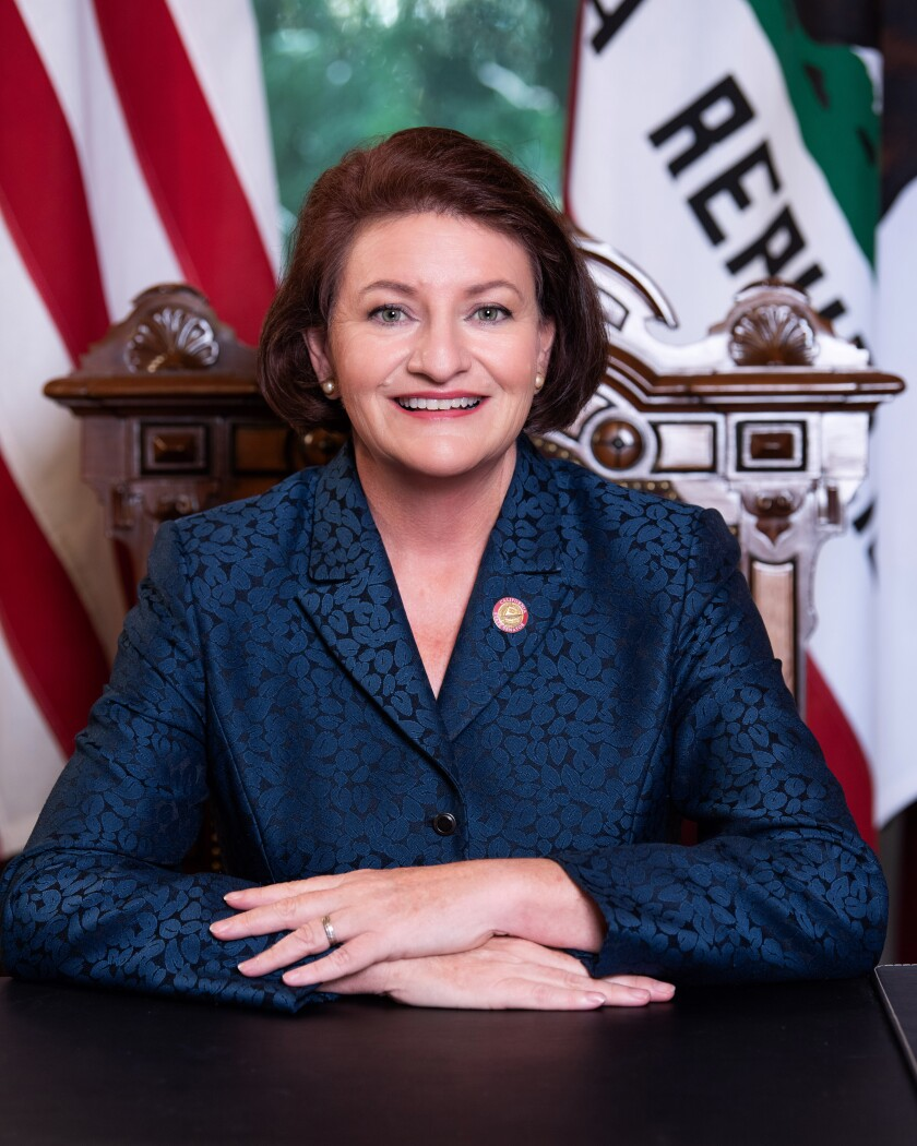 State Sen. Toni Atkins, who introduced SB 9, spoke about it at the La Jolla Community Planning Association meeting June 3.