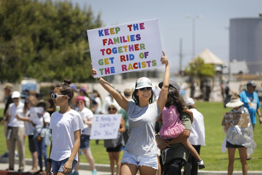 Families Belong Together Carlsbad rally