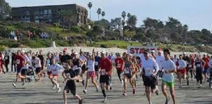 The Red Nose Run is a Del Mar holiday tradition. (U-T file photo)