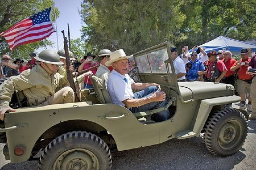 Medal of Honor recipient and Pearl Harbor survivor John Finn arrived with  a military escort in period uniforms at his 100th-birthday celebration on in June 2009 at La Posta Diner in Pine Valley.