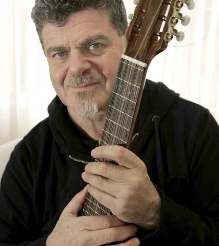 Musician-composer Gustavo Santaolalla will lead the L.A.-based, Argentine-Uruguayan alternative-electronica outfit Bajofondo in a concert May 14.