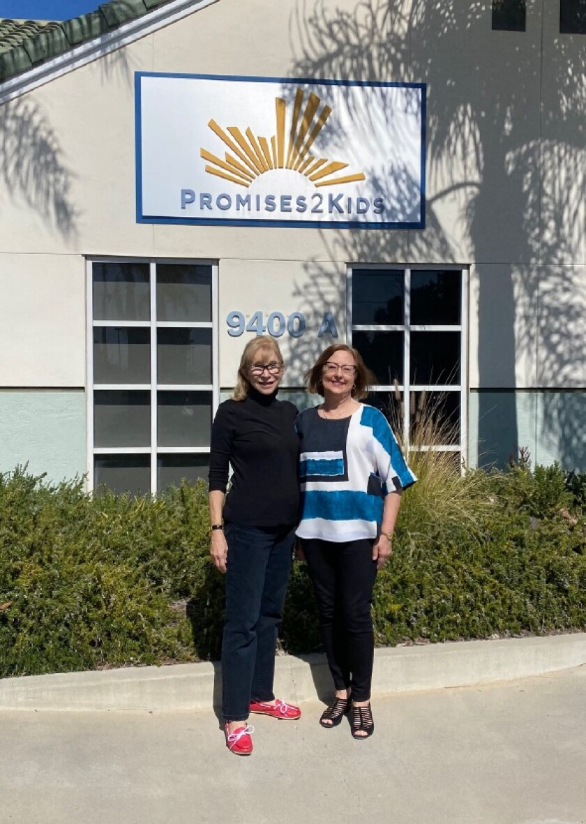 La Jolla residents Norma Hirsh and Renee Comeau founded the Promises2Kids organization 40 years ago.