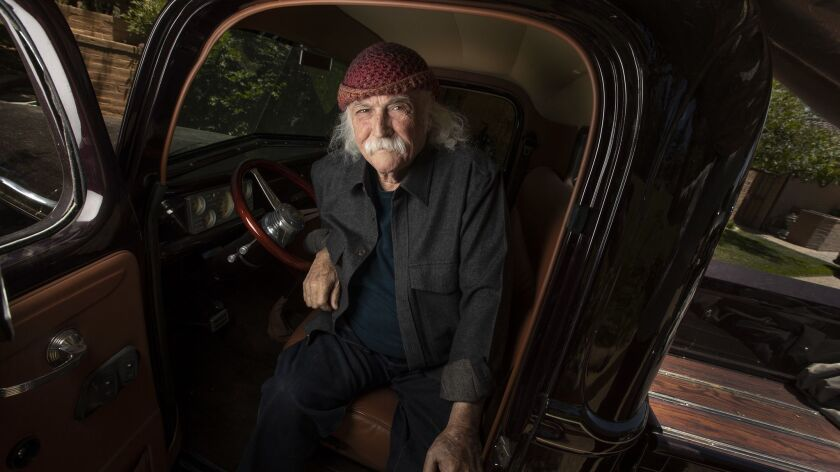 SANTA YNEZ, CALIF. -- WEDNESDAY, JUNE 26, 2019: Musician David Crosby sits for portraits in his 194