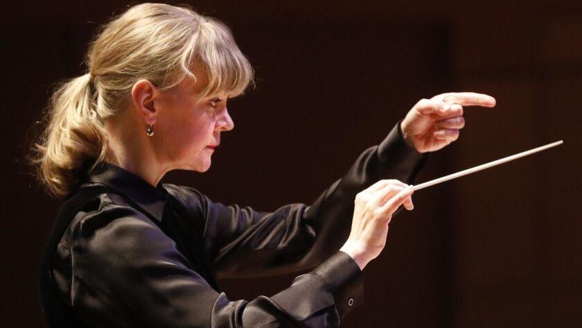 Los Angeles Philharmonic principal guest conductor Susanna Malkki