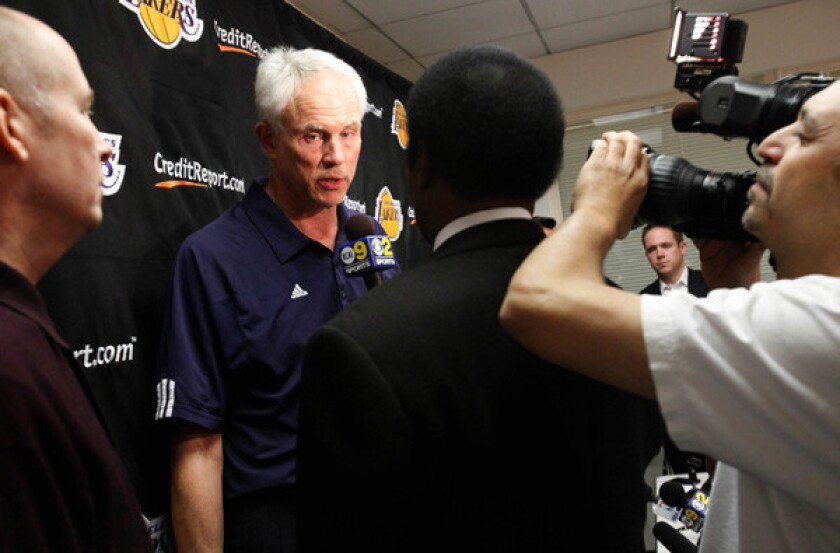 General Manager Mitch Kupchak and the Lakers are under the media glare with a 1-4 start to the season.