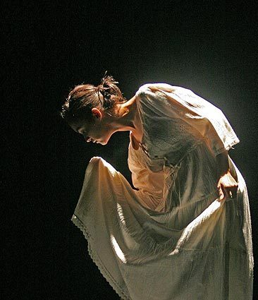 """Salvadoran Preservation of Historic Memory"" at the Los Angeles Theatre Center is the umbrella name of a new weeklong multimedia happening that deals with the recent history of El Salvador and will encompass dance, theater, art and literature. Above, dancer Rocio Enriquez rehearses a performance piece of the show."