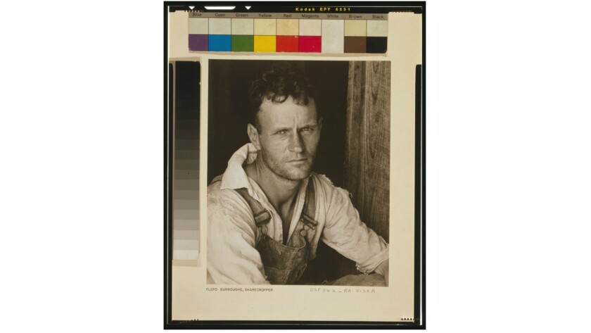 Alabama sharecropper Floyd Burroughs, 1935 or 1936, photographed by Walker Evans for the U.S. Resettlement Administration.
