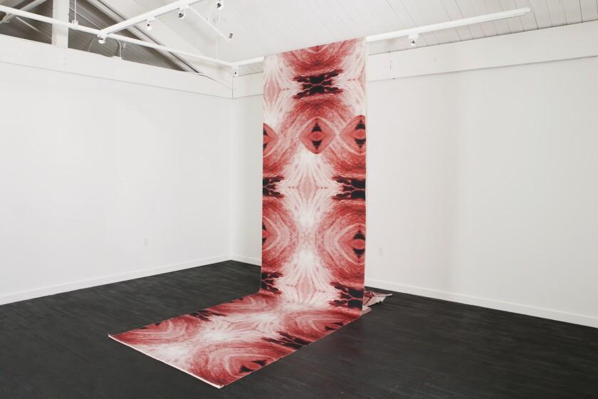 """Multiple Clitoris,"" a water portrait by artist Carolina Caycedo at OCMA."