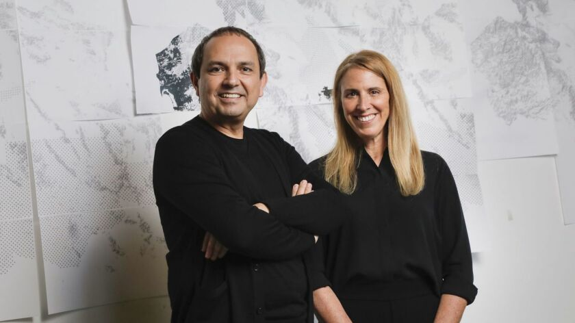 """Architect Teddy Cruz, left, and political scientist Fonna Forman will present their project """"MEXUS"""" at the 2018 Venice Architecture Biennale."""