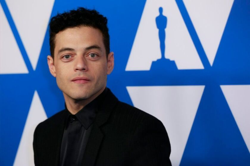 Rami Malek arrives for the 91st Oscars Nominees Luncheon in the Grand Ballroom at the Beverly Hilton.