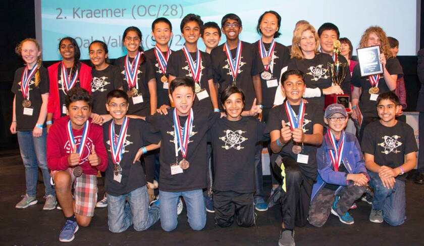Oak Valley students headed to national Science Olympiad