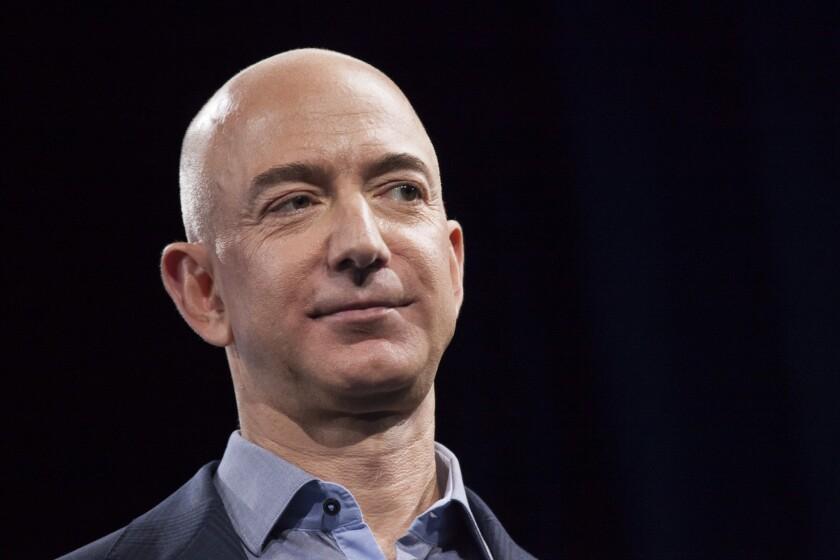 Amazon CEO Jeff Bezos said the company is seeing more customers do their holiday shopping early as a result of the pandemic.