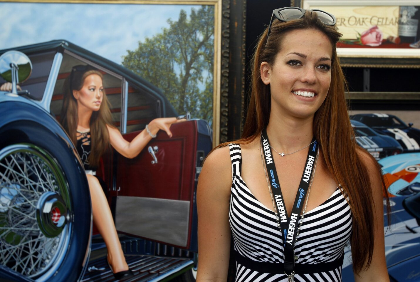 Model Alexa Jacobs was featured in the promotional image for the 9th Annual La Jolla Concours D'Elegance in La Jolla.