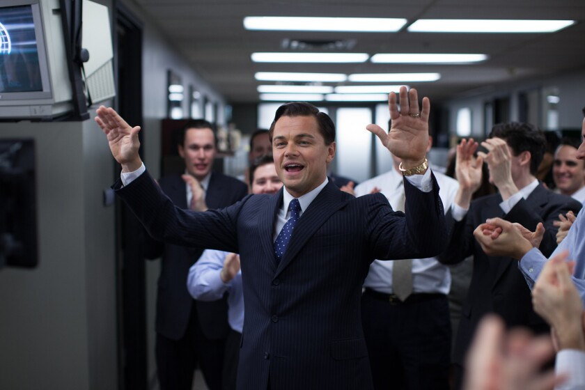 "Leonardo DiCaprio is Jordan Belfort in ""The Wolf of Wall Street"" from Paramount Pictures and Red Granite Pictures."