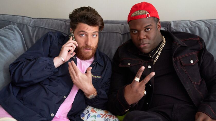 "Adam Pally, left, and Sam Richardson co-star in ""Champaign ILL,"" a new comedy from YouTube Premium."