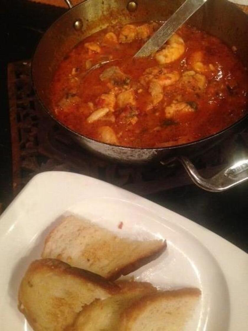 Cioppino is a popular, Italian seafood stew.