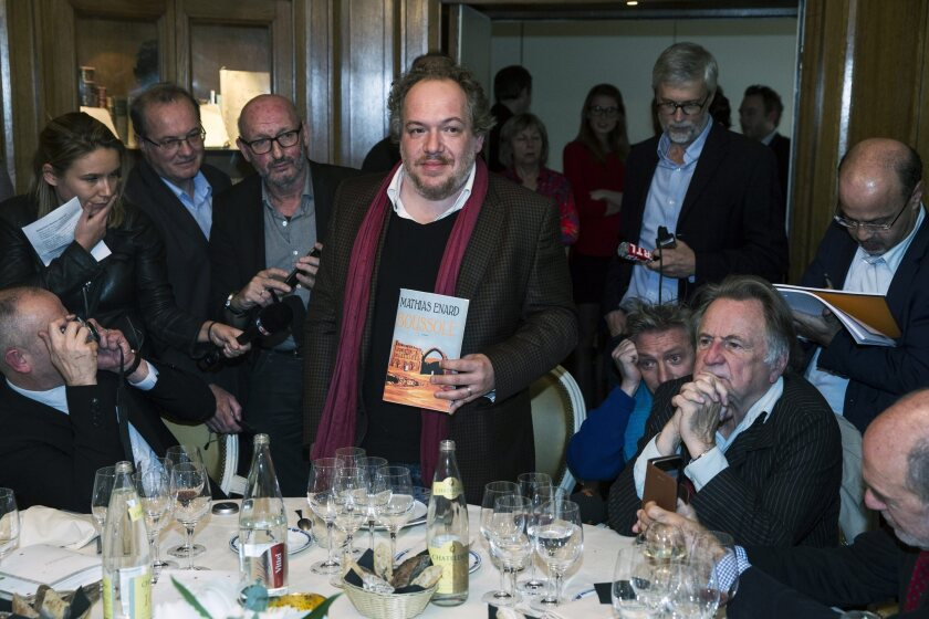 France's top literary prize goes to Mathias Enard