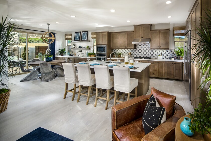The final single-family homes now selling at Rancho Tesoro's Vientos have open living spaces, private yards and, in some plans, dual master suites.