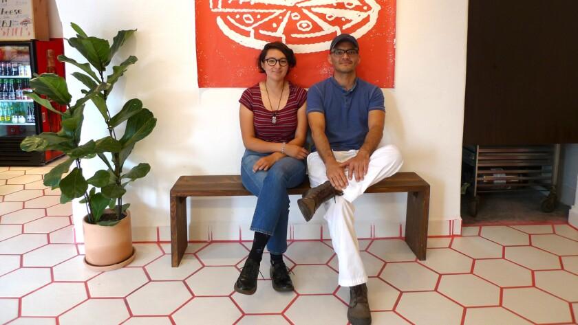 Dough Box Pizza and Bread owners Alexandra Gonzalez and Tony Hernandez.