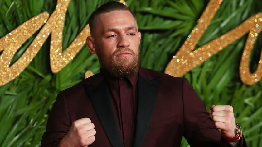 Fighter Conor McGregor arrives at the British Fashion Awards at the Royal Albert Hall in London on Dec. 4.