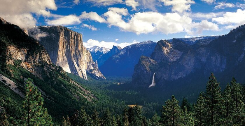 One of the many spectacular scenes at Yosemite National Park.