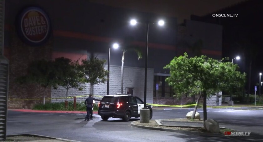 Homicide detectives were investigating a fatal shooting that occurred late Thursday at Dave & Buster's in Mission Valley.