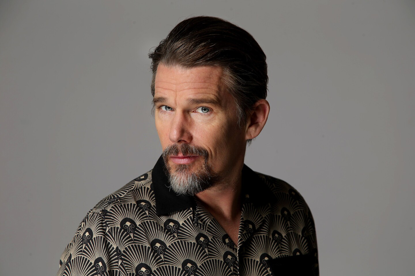 """Ethan Hawke -- actor in """"First Reformed"""" and """"Juliet, Naked"""" and director of """"Blaze"""" -- attends the Envelope gathering of lead actors for a frank discussion on the industry and their movies."""