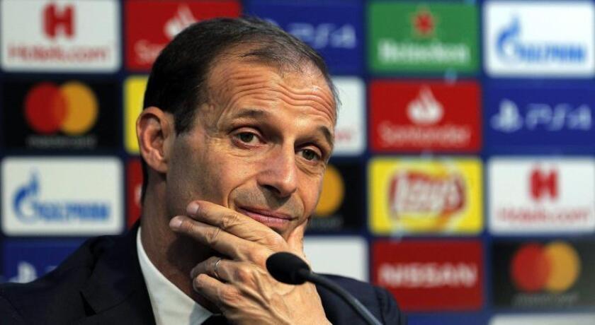 El entrenador de la Juventus de Turin Massimiliano Allegri. EFE/Archivo