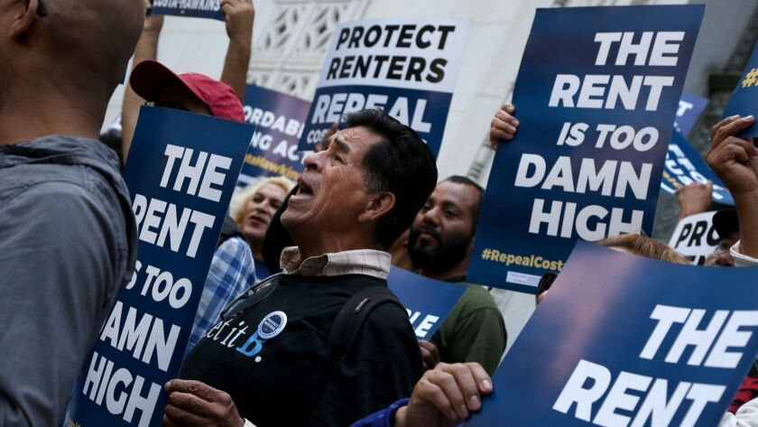 Rent control could be back on the California ballot in 2020