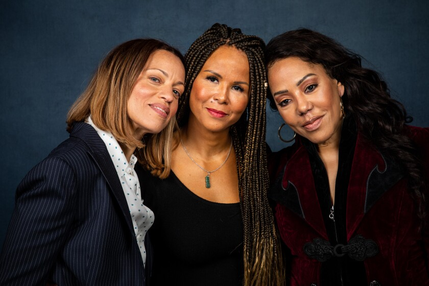 """Drew Dixon, left, Sil Lai Abrams and Sherri Hines, the subjects of """"On the Record,"""" at the Sundance Film Festival."""