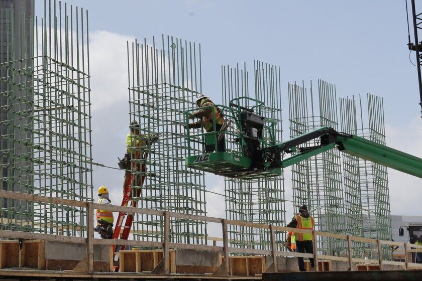 work continues on a bridge on the Interstate Highway 75 project in Troy, Mich.