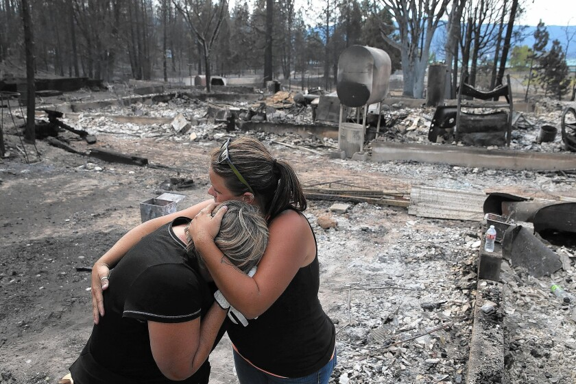 Mourning loss of their home