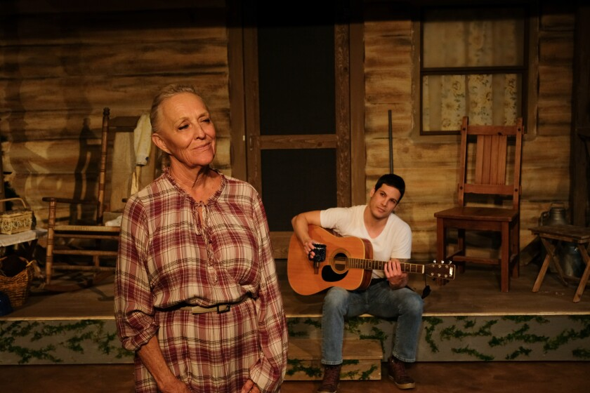 "Dagmar Krause Fields and Adam Daniel in ""Foxfire."""