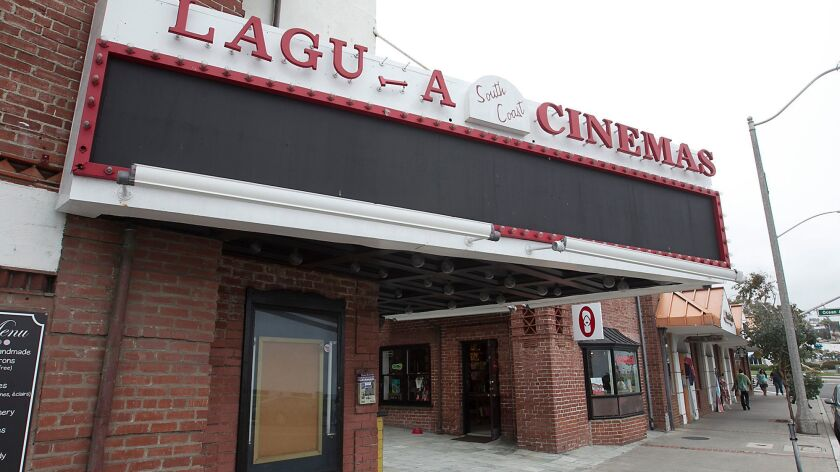 The South Coast Cinemas property in downtown Laguna Beach reportedly is for sale.