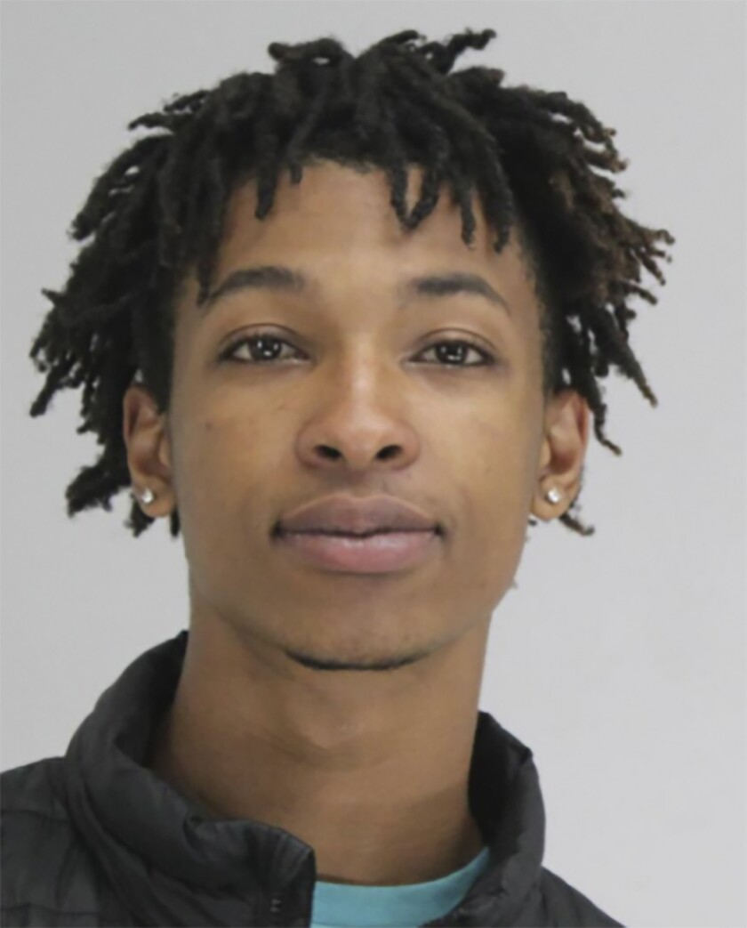 This photo provided by the Dallas County Jail, in Texas, shows Darriynn Brown. Brown has been arrested after the body of a 4-year-old boy was found lying on a neighborhood street in Dallas, police said Sunday, May 16, 2021. (Dallas County Jail via AP)