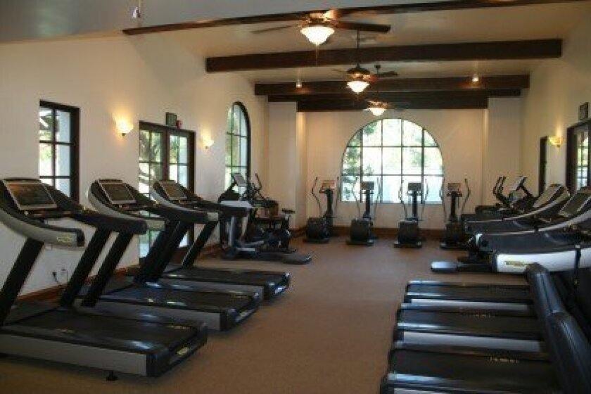 The Crosby Club's new fitness center features a full set of equipment from TechnoGym. Photo by Karen Billing
