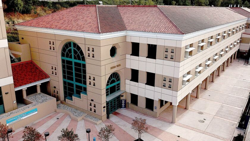 A view of Glendale Community College's new Sierra Vista building set to open Thursday. The roughly $