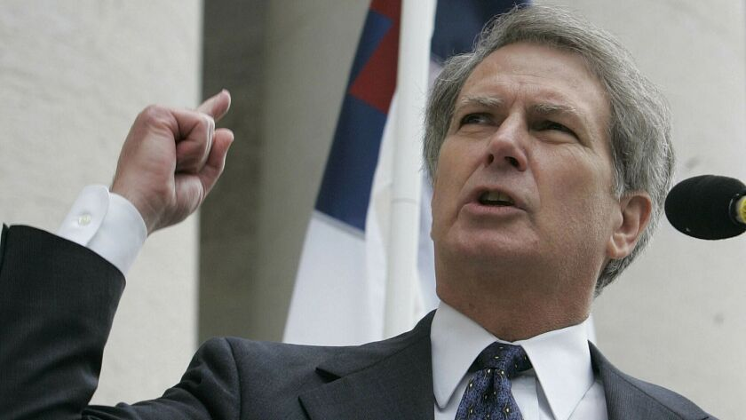 Walter Jones speaks during a rally in Columbus, Ohio, on Oct. 14, 2005.