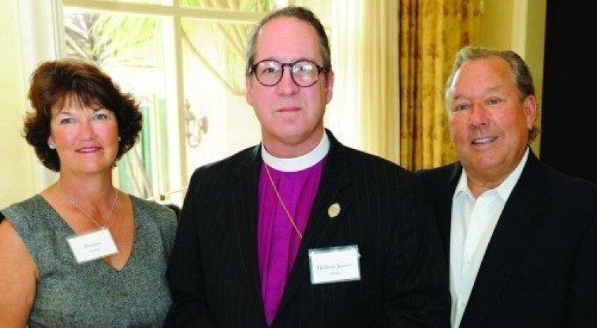 Donna Walker, Bishop James Mathes, Mark Pulido (Photo: Jon Clark)