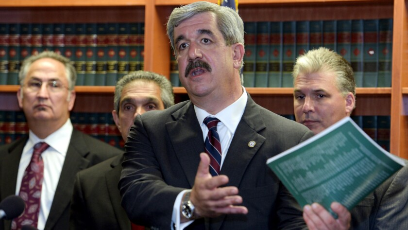 Erie County District Attorney Frank Sedita III answers a question about evidence in the case of Patrick Kane.