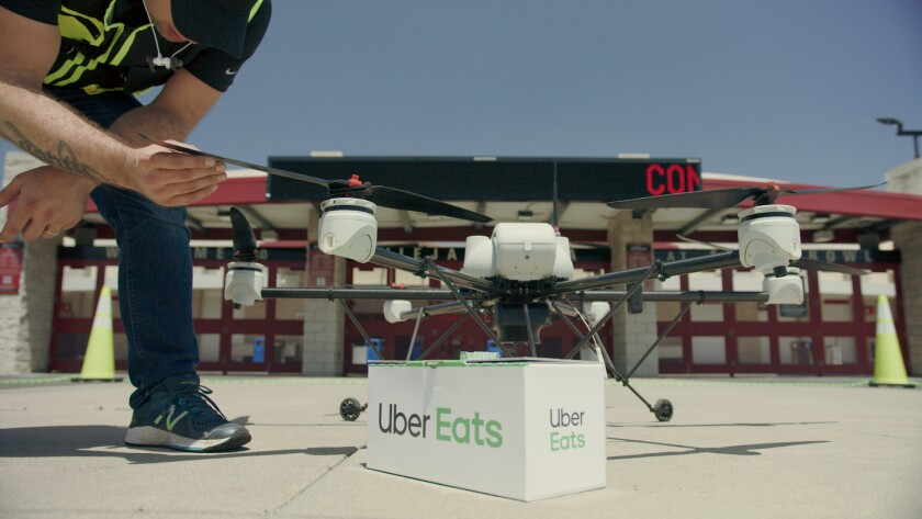 Uber to deliver McDonald's to San Diegans via drones this summer.