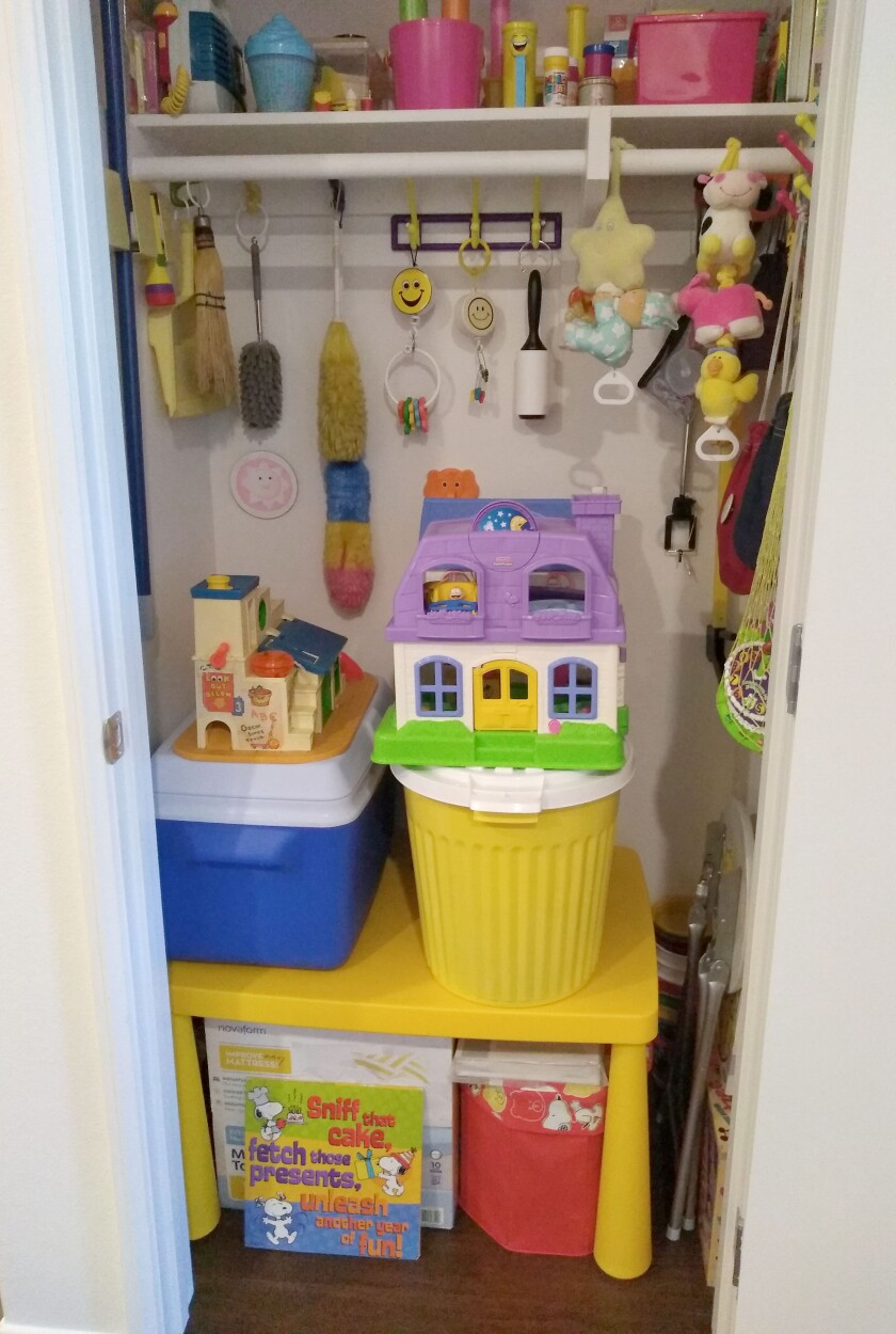 Ruthie Lawrence keeps all of her bright and cheerful belongings well organized in her apartment.