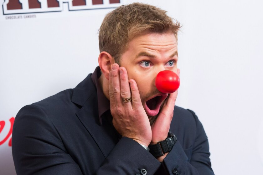 FILE - In this May 21, 2015 file photo,  Kellan Lutz attends NBC's Red Nose Day entertainment charity event at The Hammerstein Ballroom in New York. NBC has decided red is its color: The network is bringing its Red Nose Day fundraiser back for a second year. The two-hour program featuring stars, co