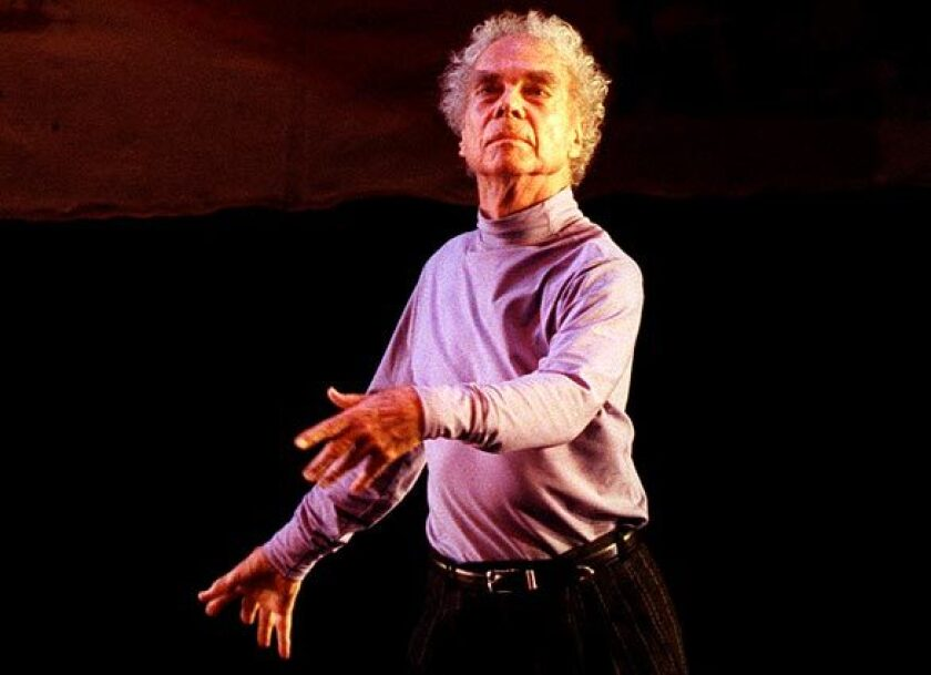Choreographer Merce Cunningham is celebrated in an online watch party on Wednesday.
