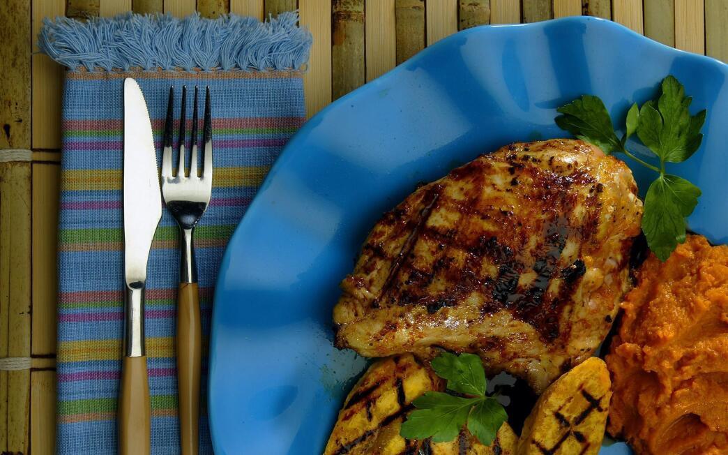 Anejo rum glazed free range chicken breast
