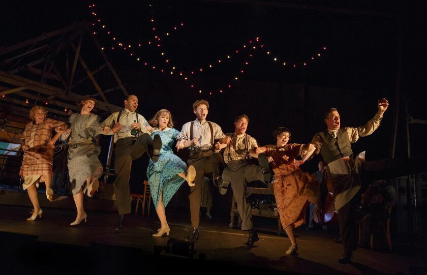 """A scene from the Old Globe-developed musical """"Bright Star."""""""