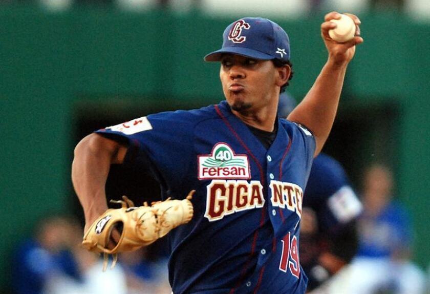 Alfredo Simón, jugador de los Gigantes del Cibao de República Dominicana. EFE/Archivo