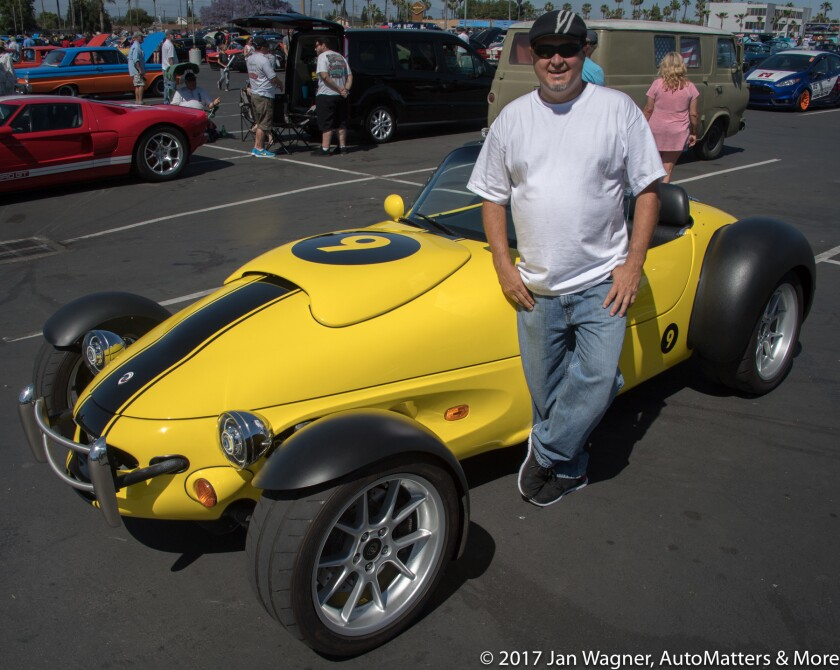Sean Shrum & his Ford-powered Panoz AIV roadster
